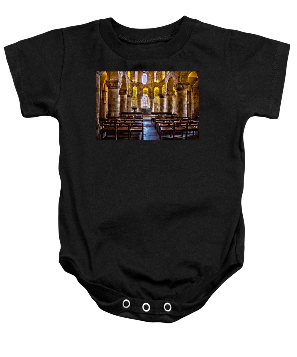 England Baby Onesie featuring the photograph Tower Of London Chapel by Jon Berghoff