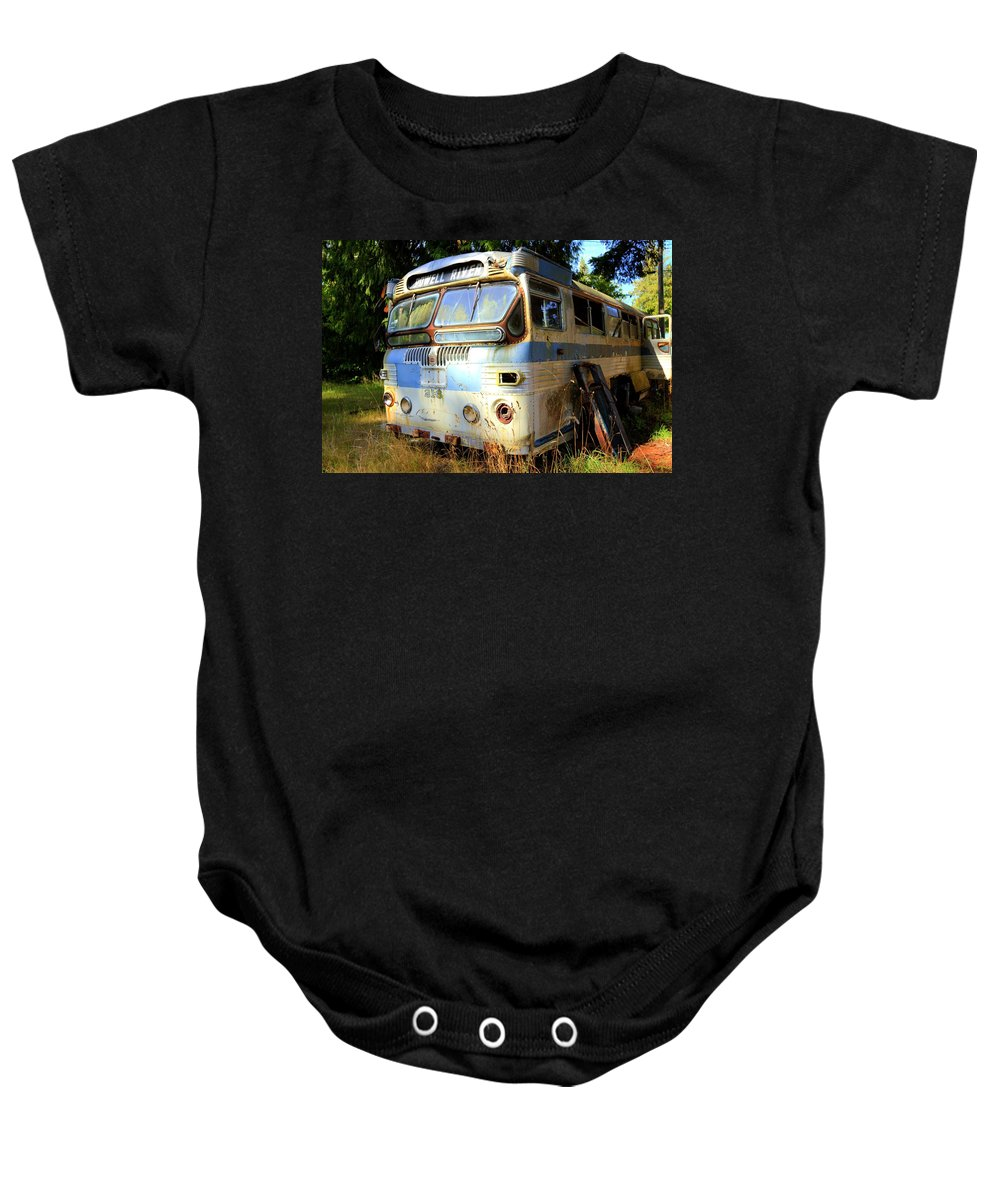 Baby Onesie featuring the photograph Transit Bus2 by Danielle Silveira