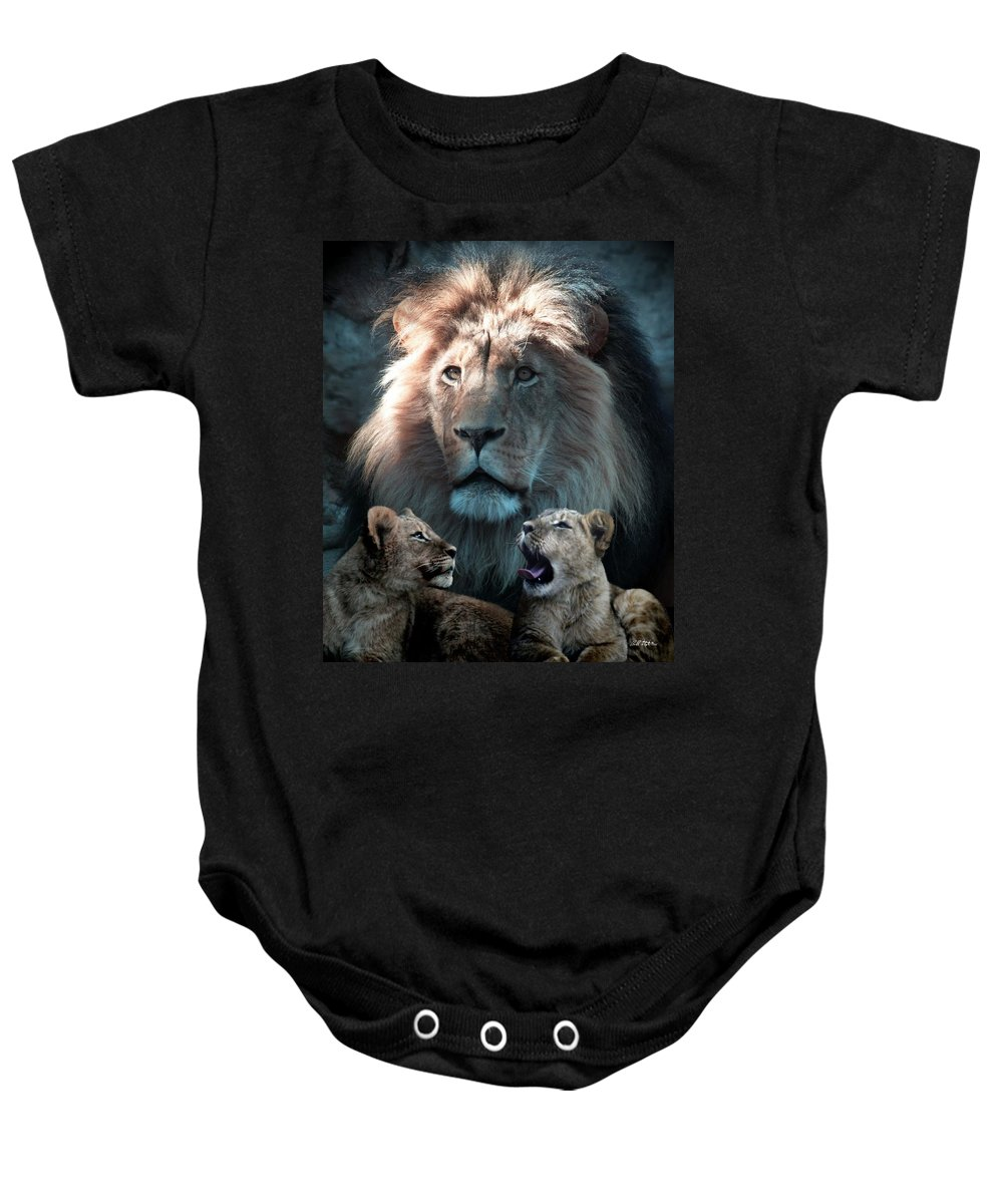 Lions Baby Onesie featuring the photograph Tribute To An Old Friend by Bill Stephens