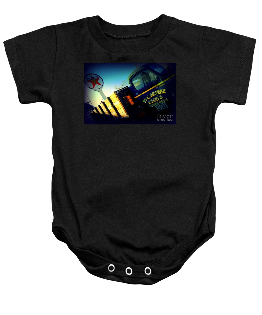 Route 66 Baby Onesie featuring the photograph Truck On Route 66 by Susanne Van Hulst