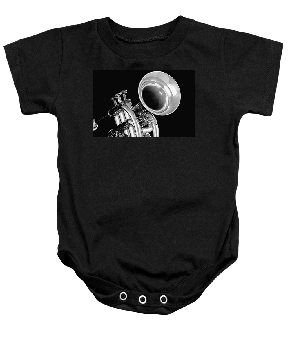 Fine Art Baby Onesie featuring the photograph Trumpet Up Front by M K Miller