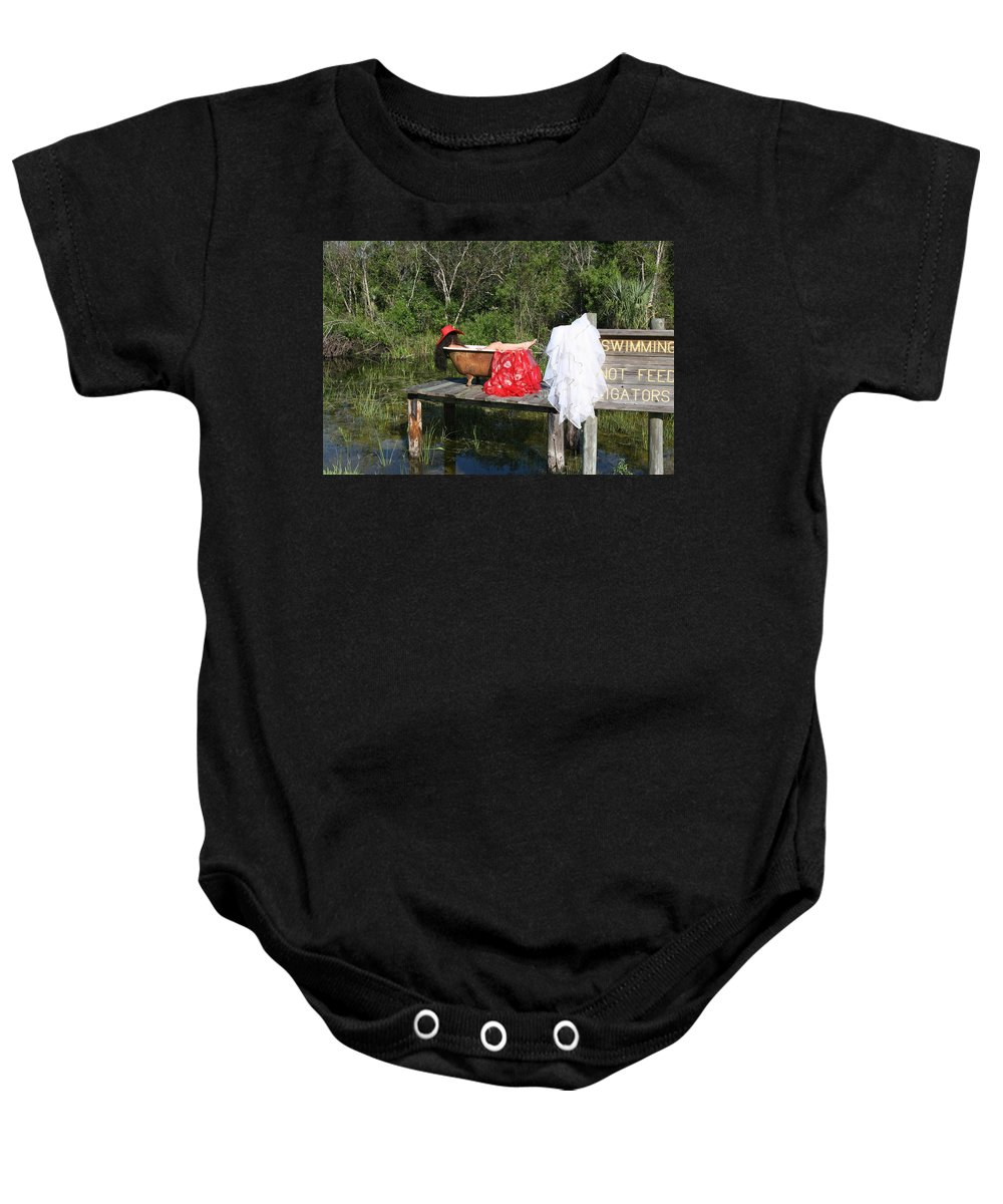 Everglades City Fl.professional Photographer Lucky Cole Baby Onesie featuring the photograph Tubs 013 by Lucky Cole