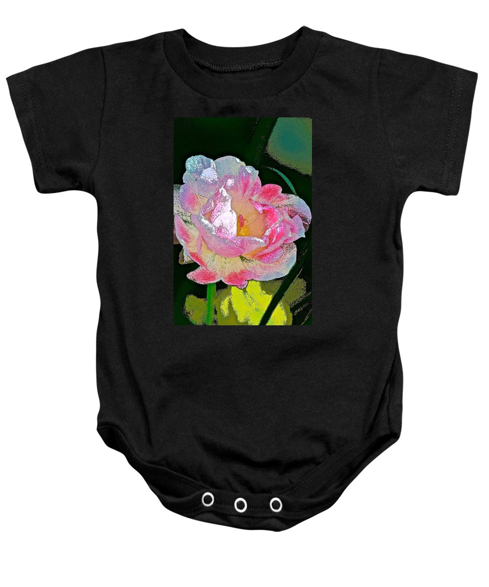 Floral Baby Onesie featuring the photograph Tulip 44 by Pamela Cooper