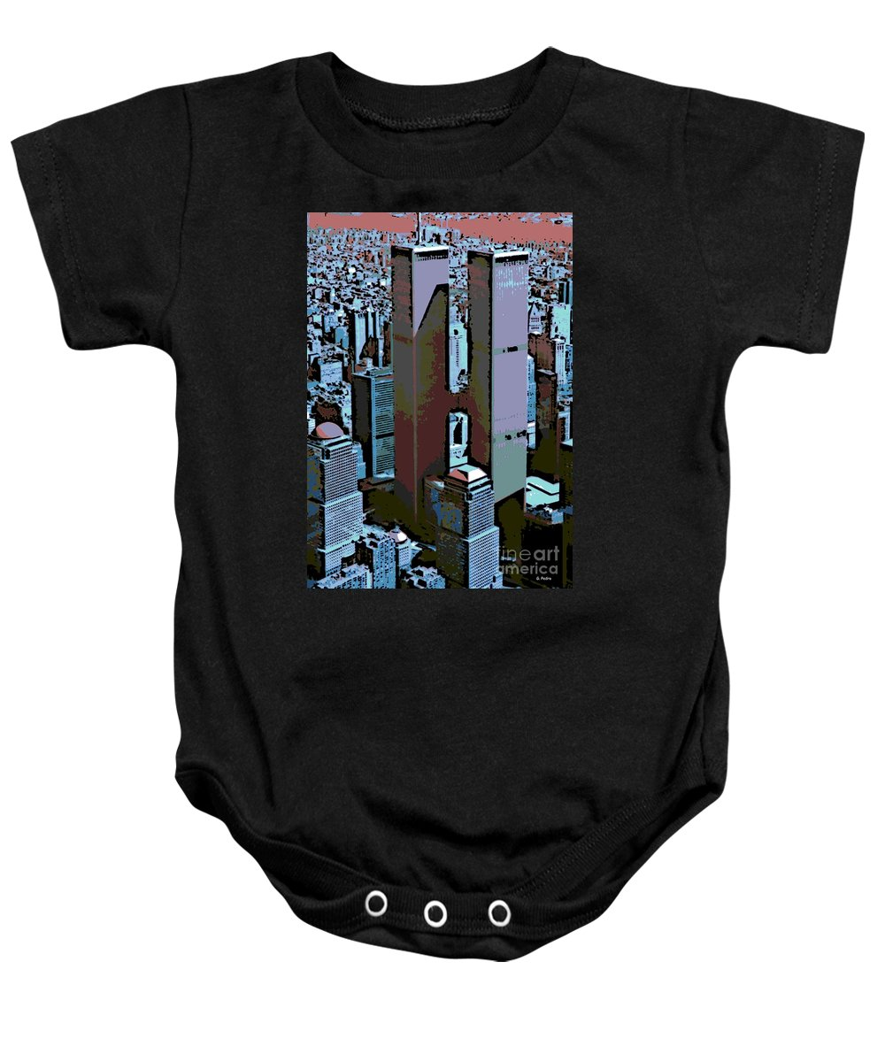 Twin Towers Baby Onesie featuring the photograph Twin Towers by George Pedro
