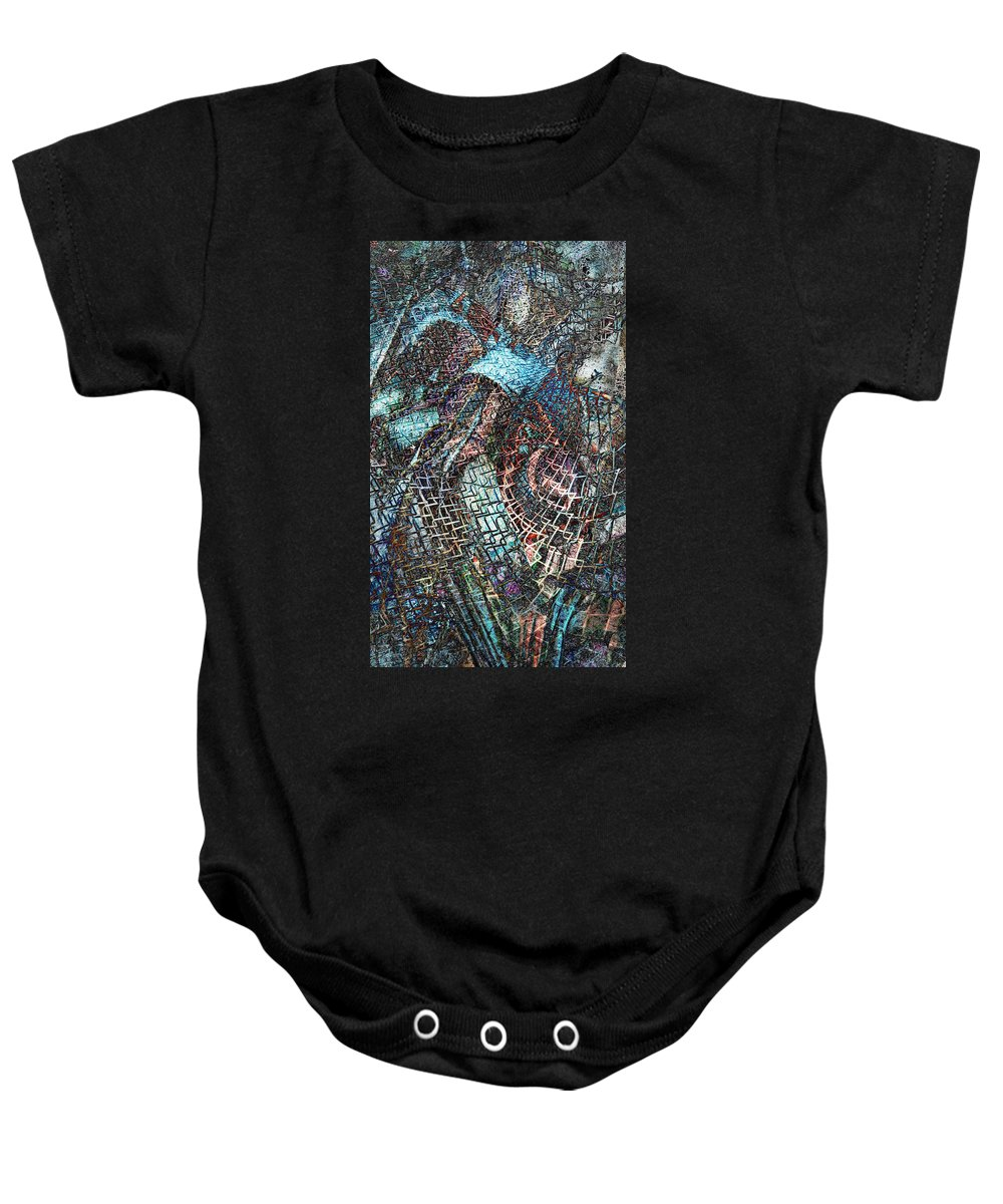 Twisted Baby Onesie featuring the digital art Twistered by Francesa Miller