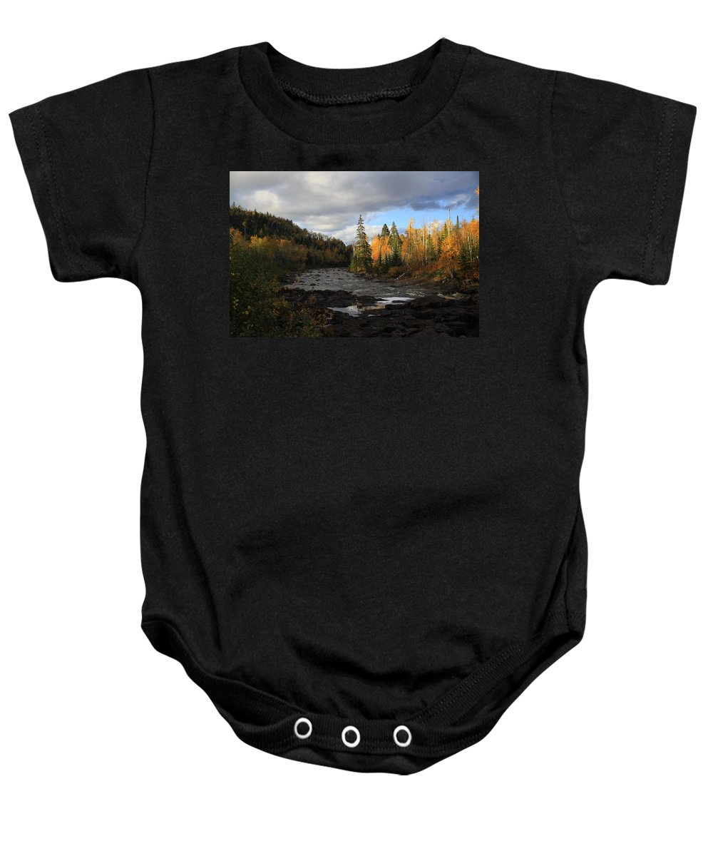 Baby Onesie featuring the photograph Upper Temperance by Joi Electa