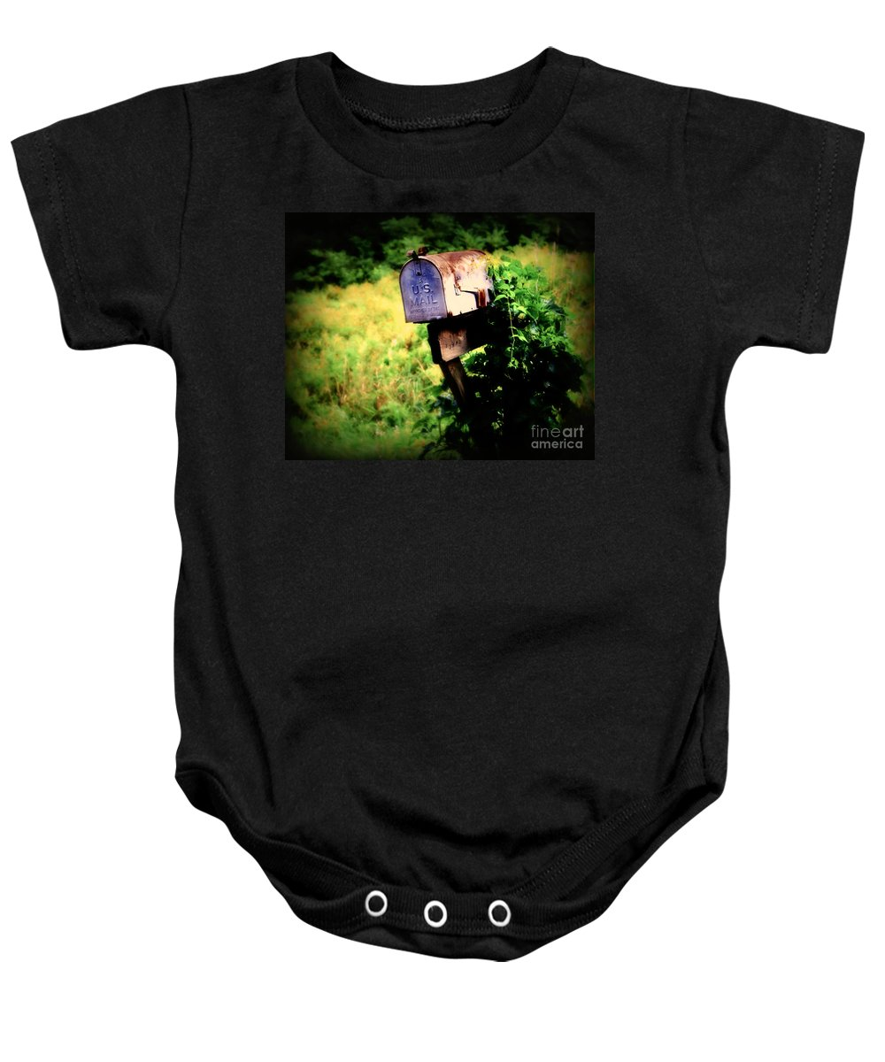 Mail Baby Onesie featuring the photograph U.s. Mail by Perry Webster