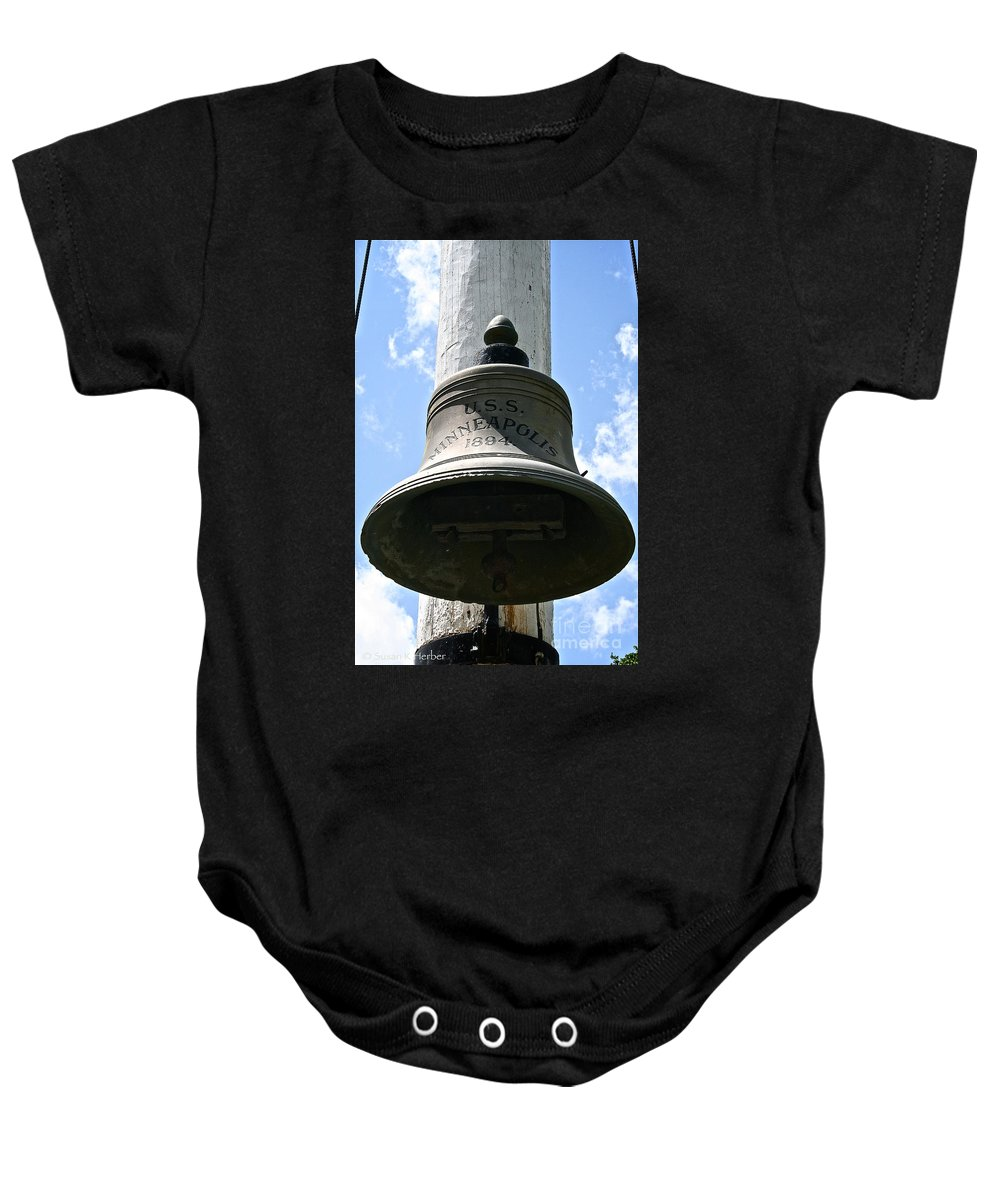 Minnesota Baby Onesie featuring the photograph Uss Minneapolis by Susan Herber