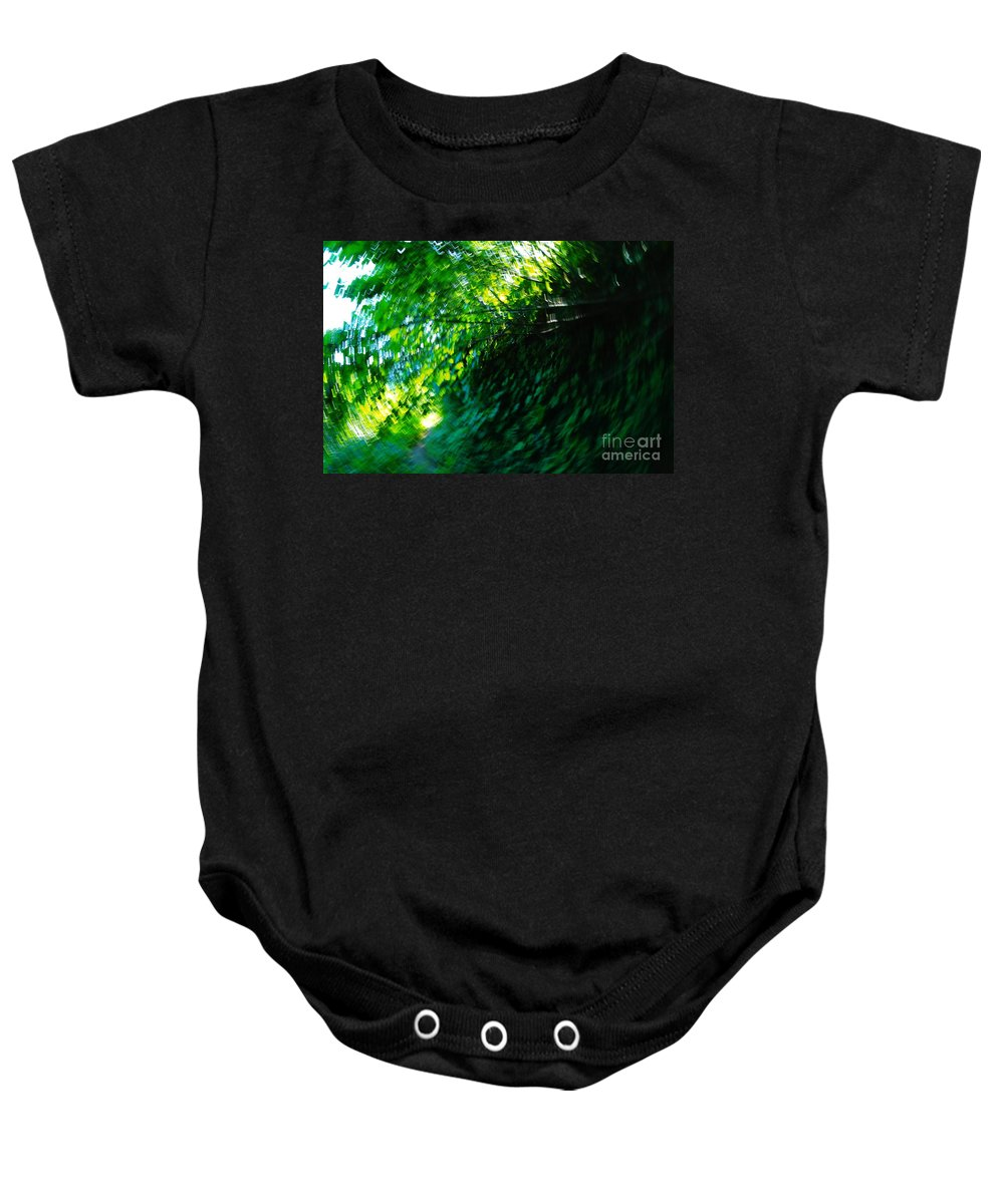 Leaves Baby Onesie featuring the photograph Vertigo by Jeff Swan