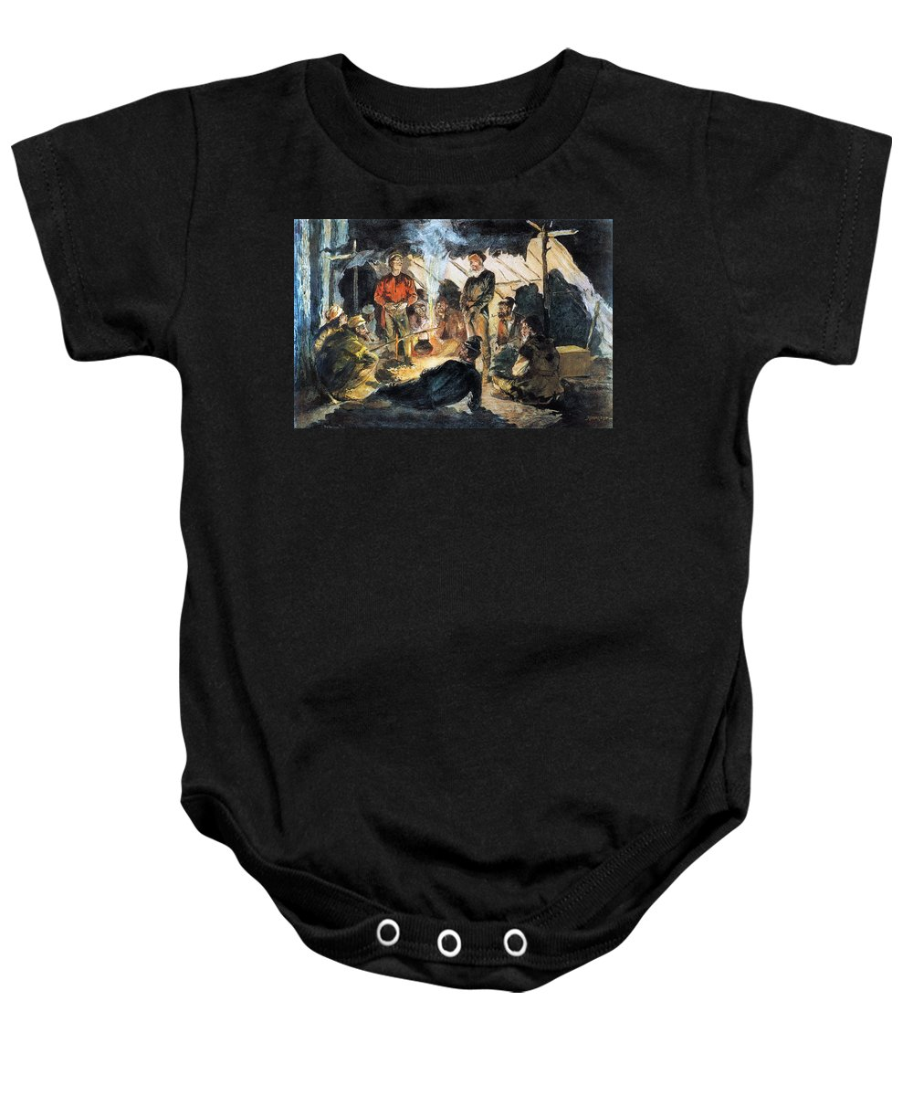 19th Century Baby Onesie featuring the photograph Voyageurs by Granger