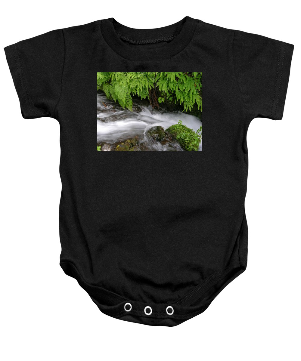 Wahkeena Falls Baby Onesie featuring the photograph Wahkeena Falls One by Mike Penney