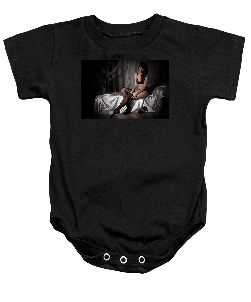 Erotic Baby Onesie featuring the photograph Waiting by Ralf Kaiser