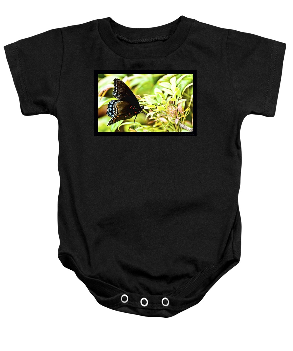 Butterfly Baby Onesie featuring the photograph Waiting by Sheri Bartoszek