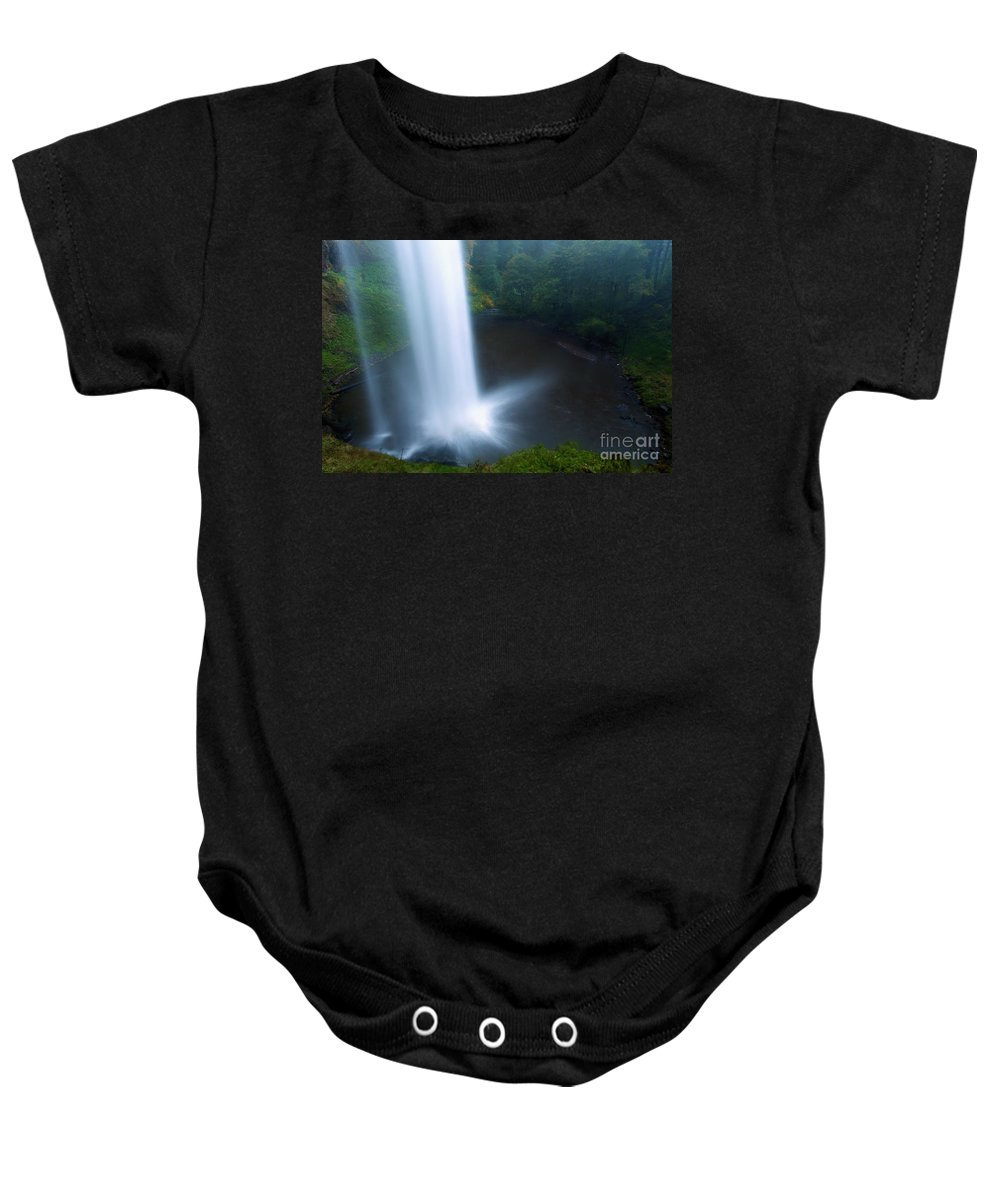 North Falls Baby Onesie featuring the photograph Water Stream by Adam Jewell