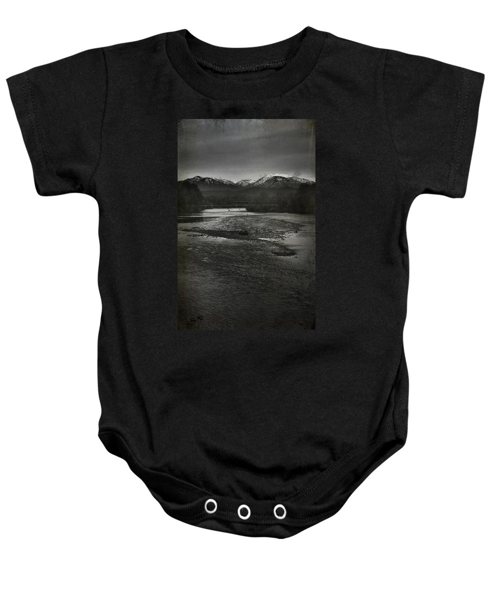 Sacramento River Baby Onesie featuring the photograph We're Not The Same by Laurie Search