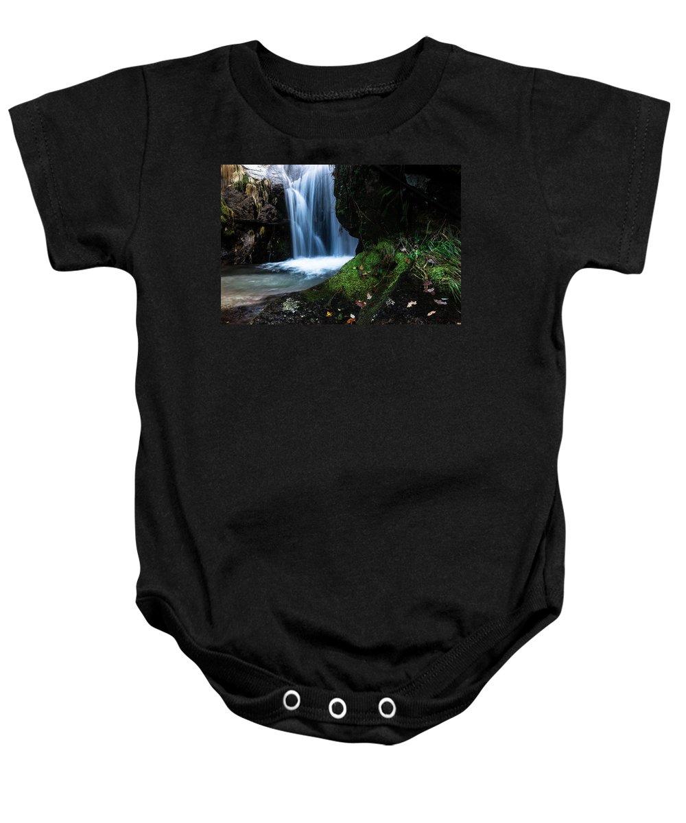 Waterfall Baby Onesie featuring the photograph White Dream by Edgar Laureano
