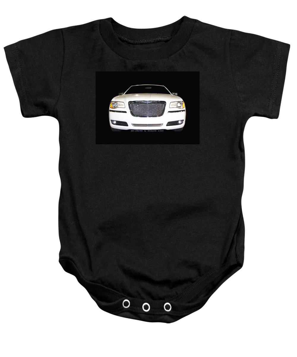 Original Baby Onesie featuring the photograph White Three Hundred Limited In Black by Carl Deaville