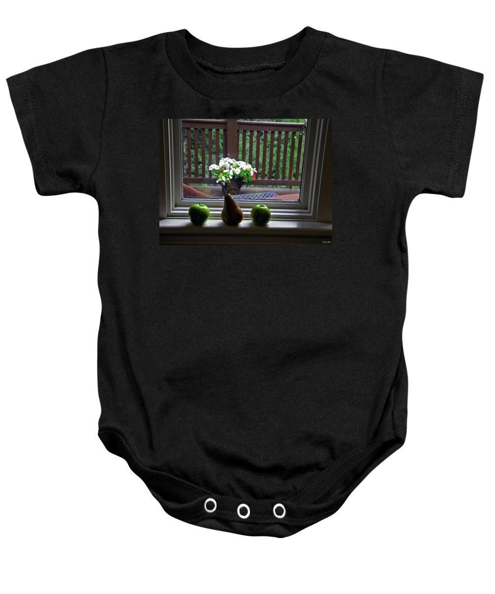 Still Life Baby Onesie featuring the photograph Window Sill 4 by Madeline Ellis