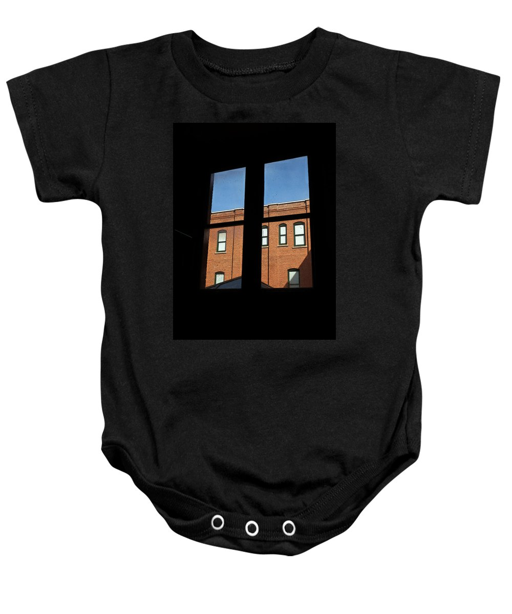 Grace Baby Onesie featuring the photograph windows of Grace by Tim Nyberg