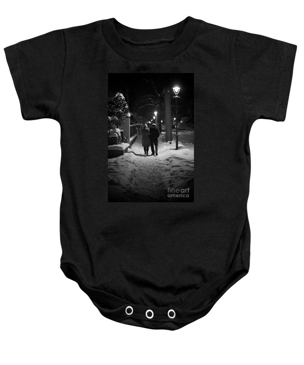 Age Baby Onesie featuring the photograph Winter Walk by Jannis Werner
