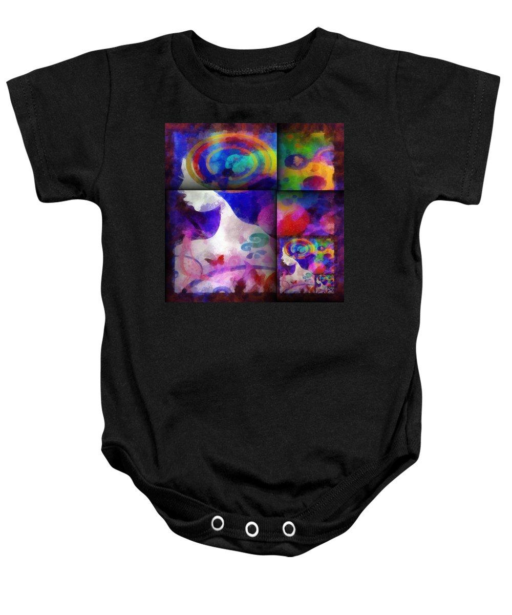 Wonder Baby Onesie featuring the digital art Wondering 1 by Angelina Vick