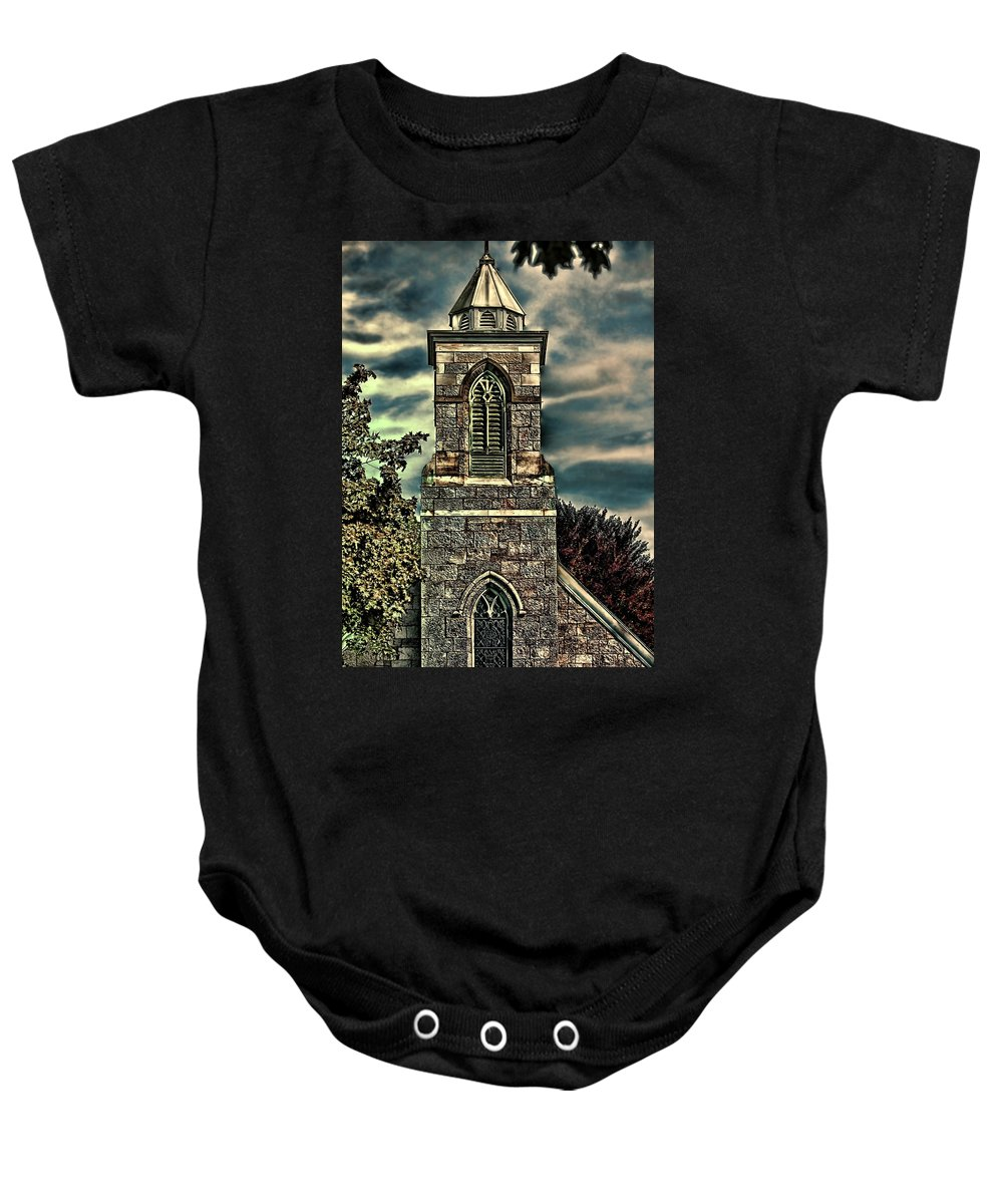 Church Baby Onesie featuring the photograph Worship by Tom Prendergast