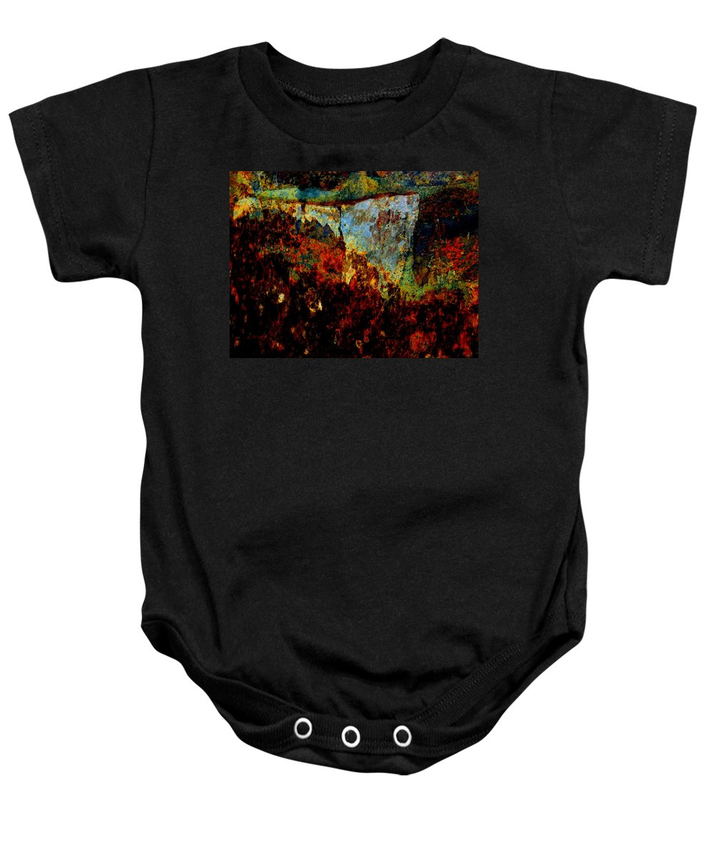 Abstract Baby Onesie featuring the photograph Wyoming Waterfall Abstract by Lenore Senior