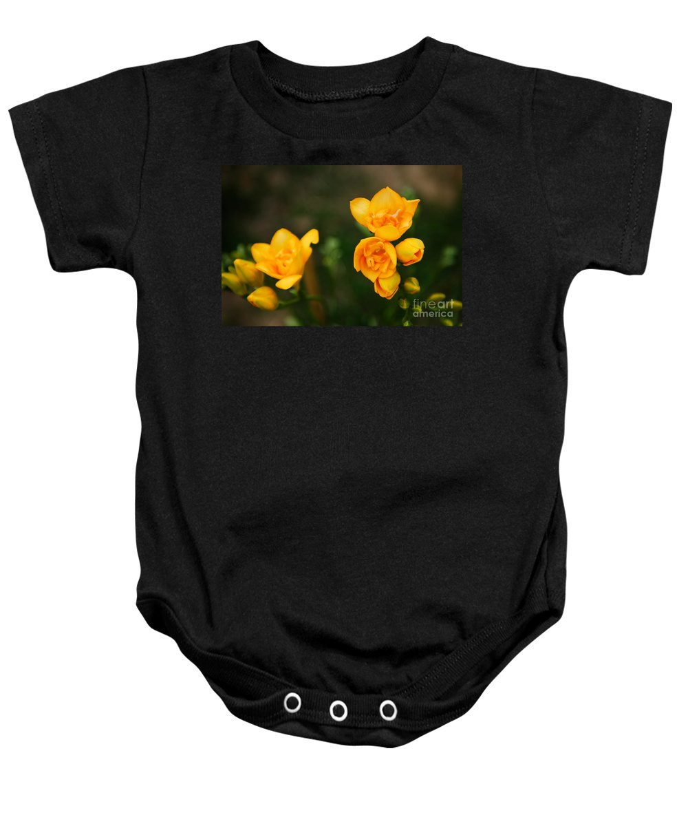 Flower Baby Onesie featuring the photograph Yellow Flowers by Syed Aqueel