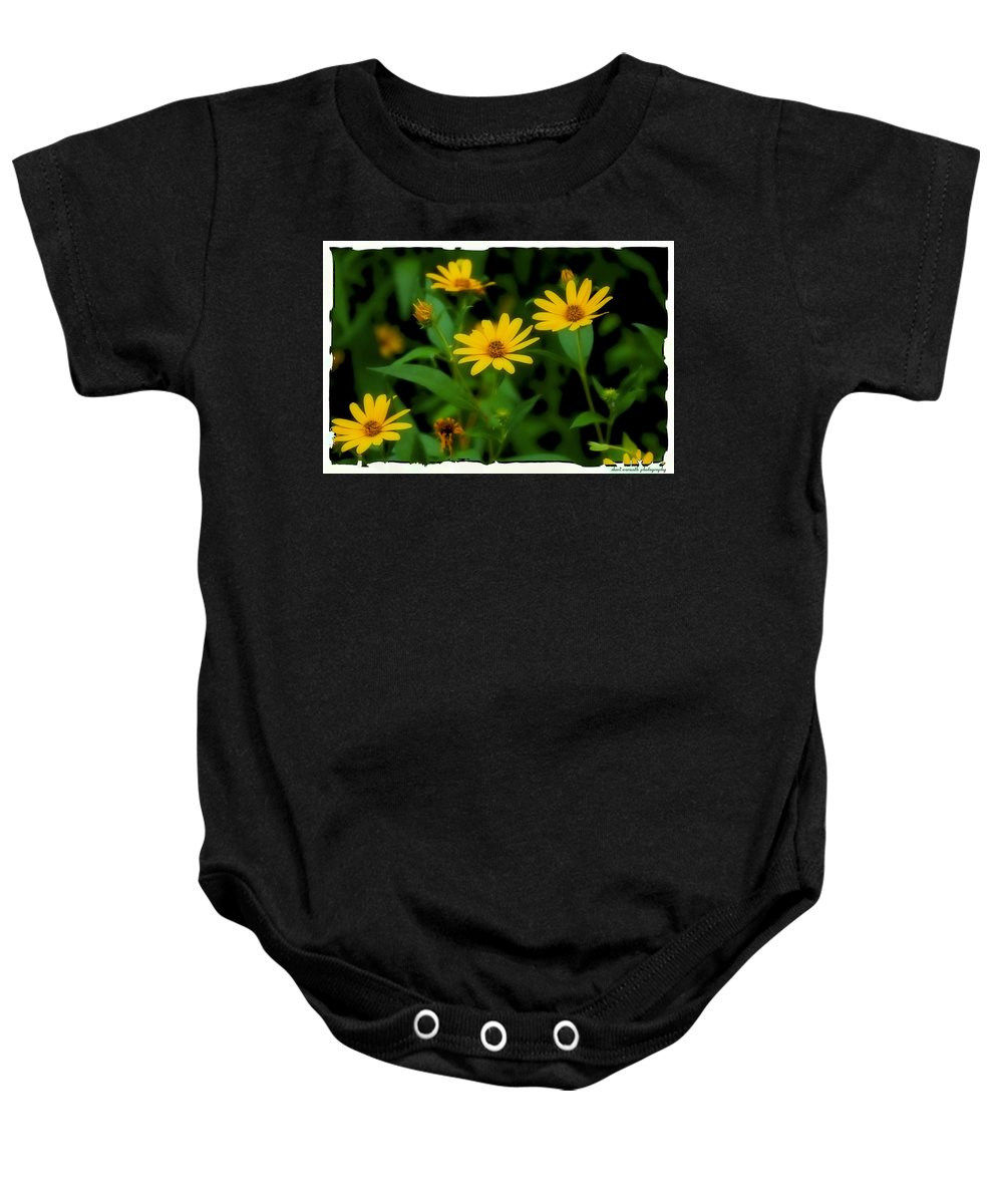 Daisies Baby Onesie featuring the photograph Yellow N Green by Sheri Bartoszek