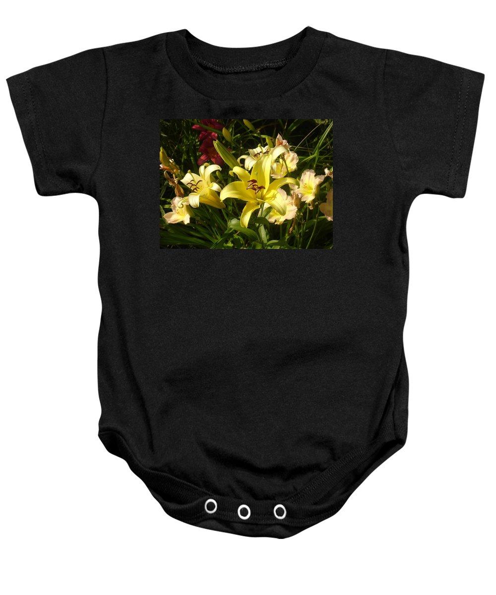 Landscape Baby Onesie featuring the photograph Yellow Splash by Steve Karol