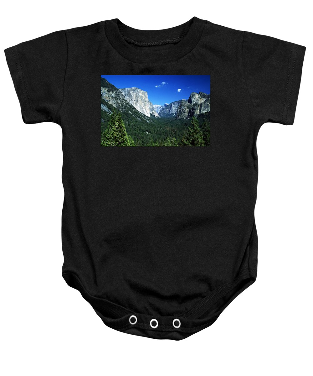 Blue Sky Baby Onesie featuring the photograph Yosemite National Park, Sierra Nevada by John Doornkamp
