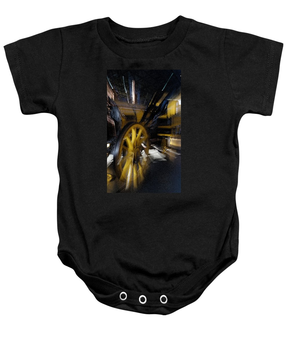 Train Baby Onesie featuring the photograph Zoom Rail by Cliff Norton