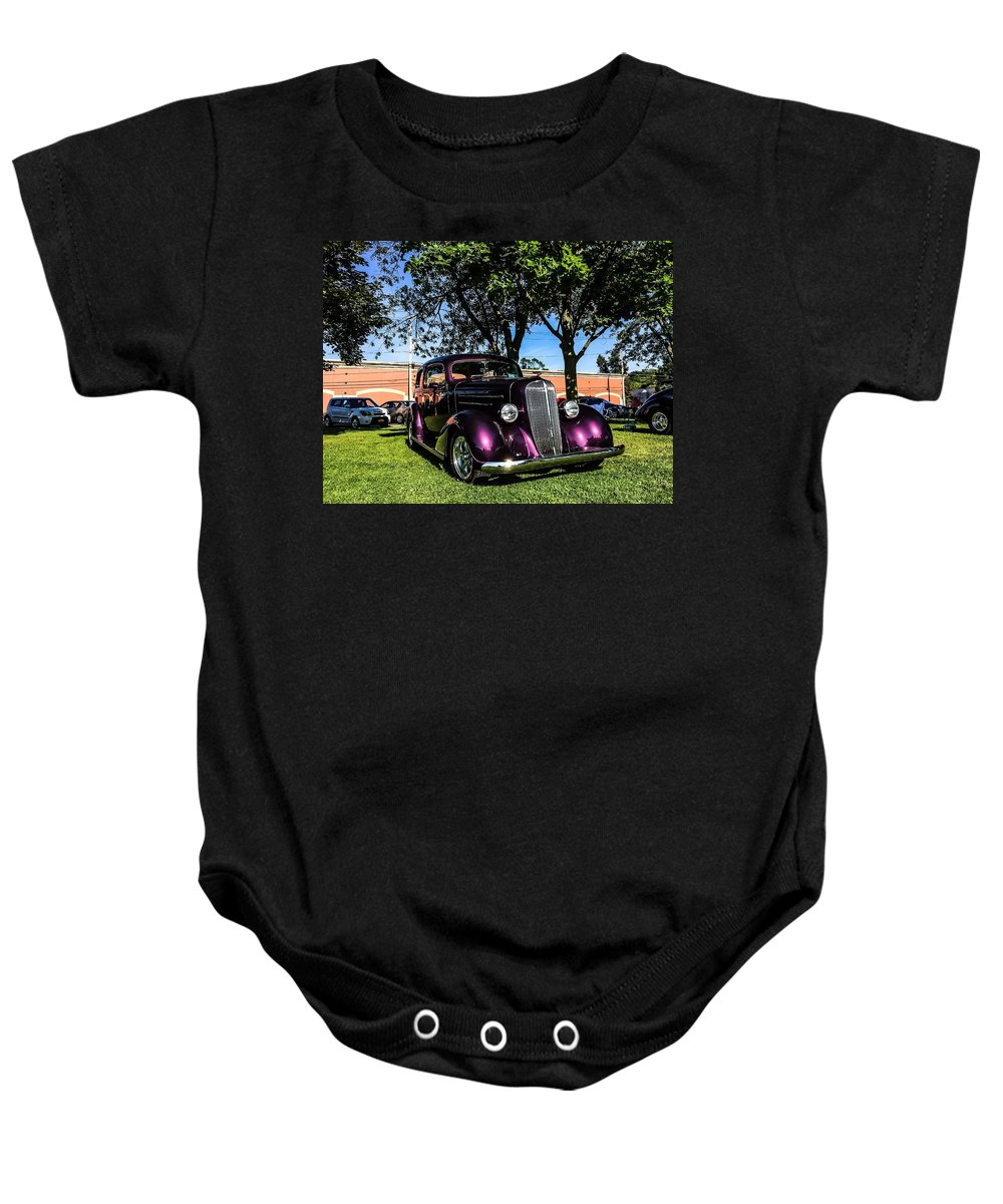 1939 Baby Onesie featuring the photograph 1939 Chevy Coupe by Charles J Pfohl