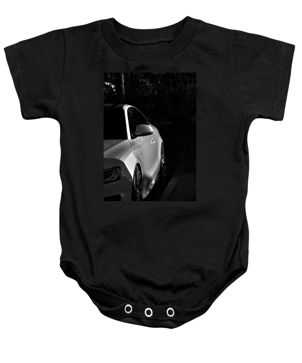 White Car Baby Onesie featuring the photograph Light And Shadow by Damijana Cermelj