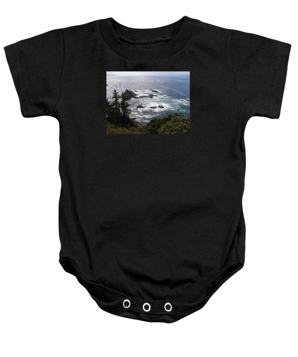 Sea Baby Onesie featuring the photograph Seascape by Larry Lacy