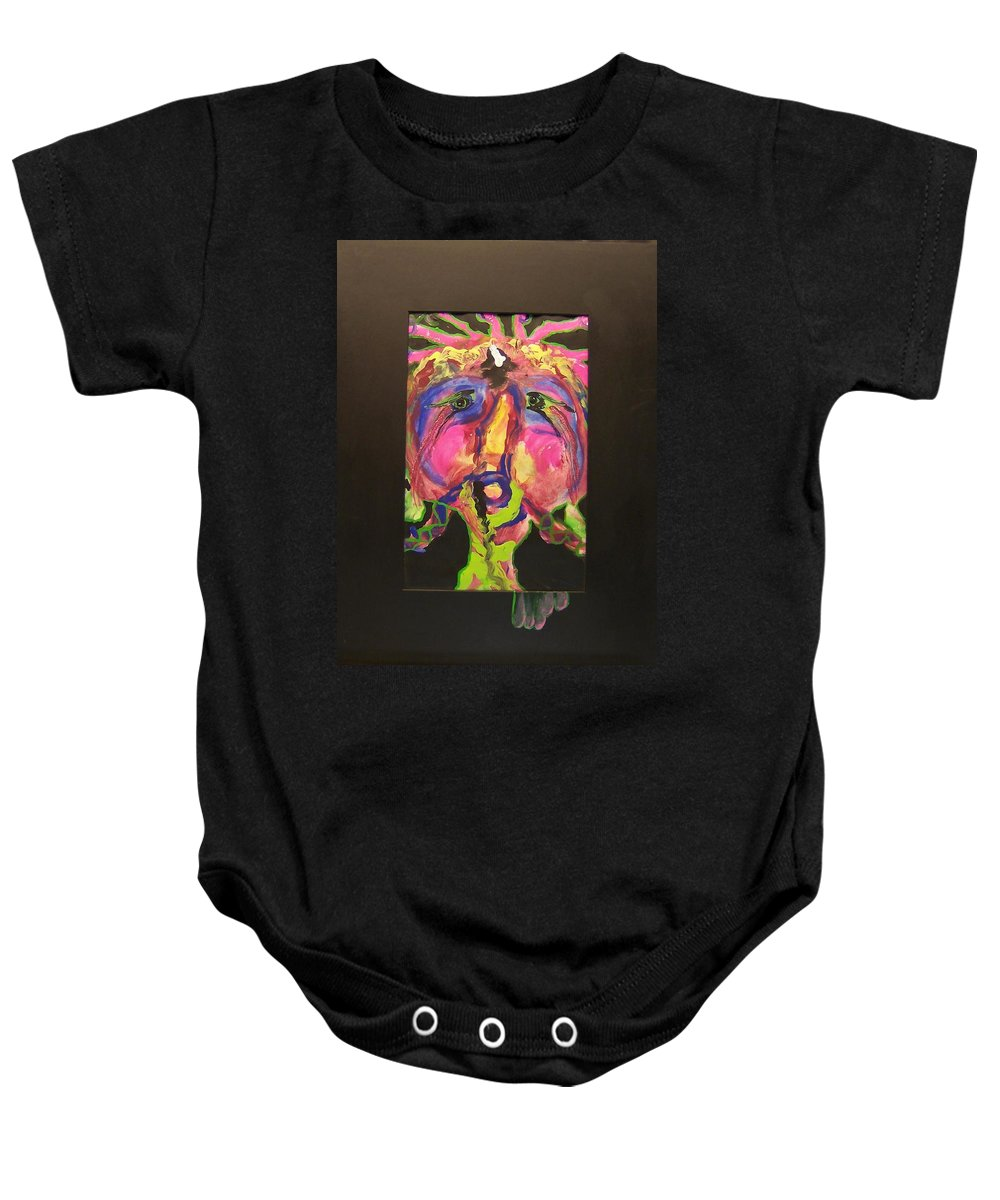 Acrylic Baby Onesie featuring the painting Self Portrait by Deahn   Benware