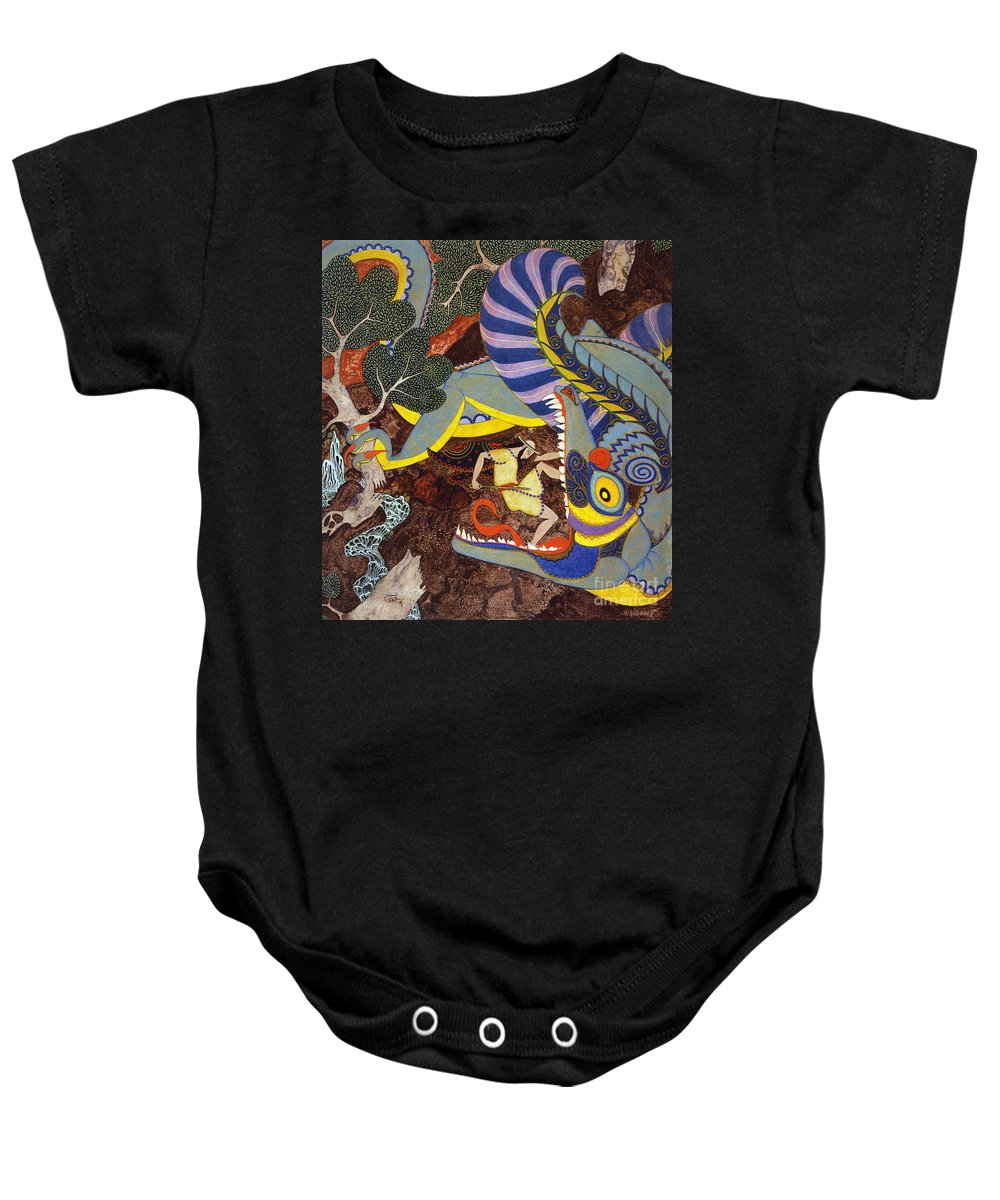 1918 Baby Onesie featuring the painting Hawthorne: Tanglewood by Granger