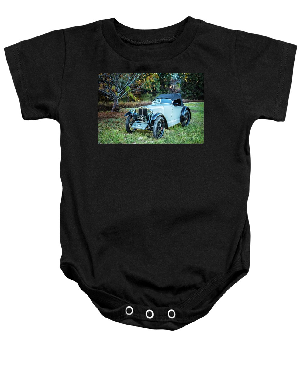 1930 Mg Baby Onesie featuring the photograph 1743.017 1930 Mg Top Quarter by M K Miller