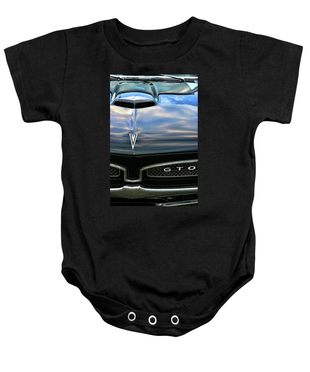 1967 Baby Onesie featuring the photograph 1967 Pontiac Gto by Gordon Dean II