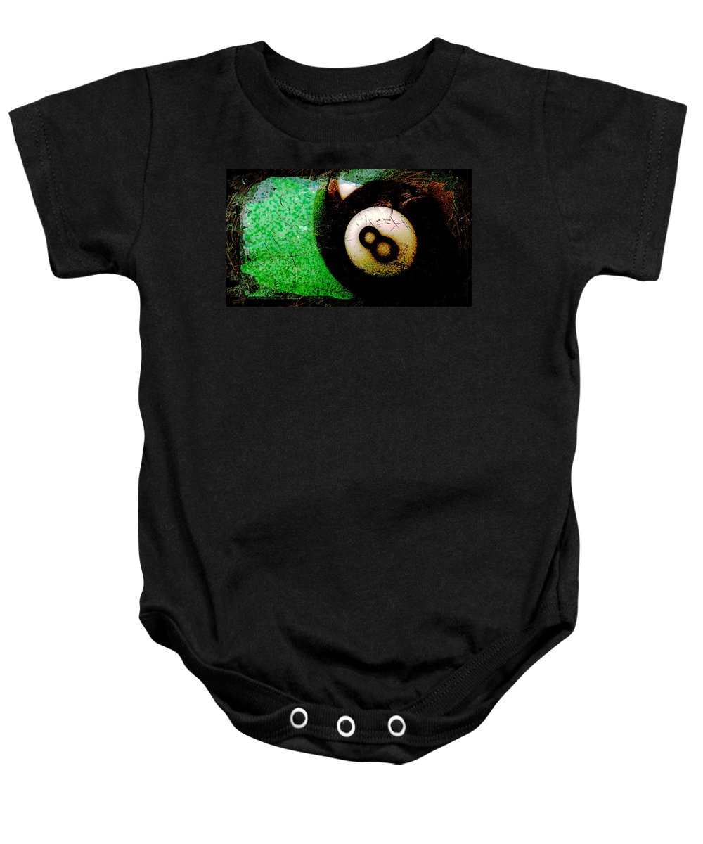 Eight Baby Onesie featuring the photograph 8 Ball by David G Paul
