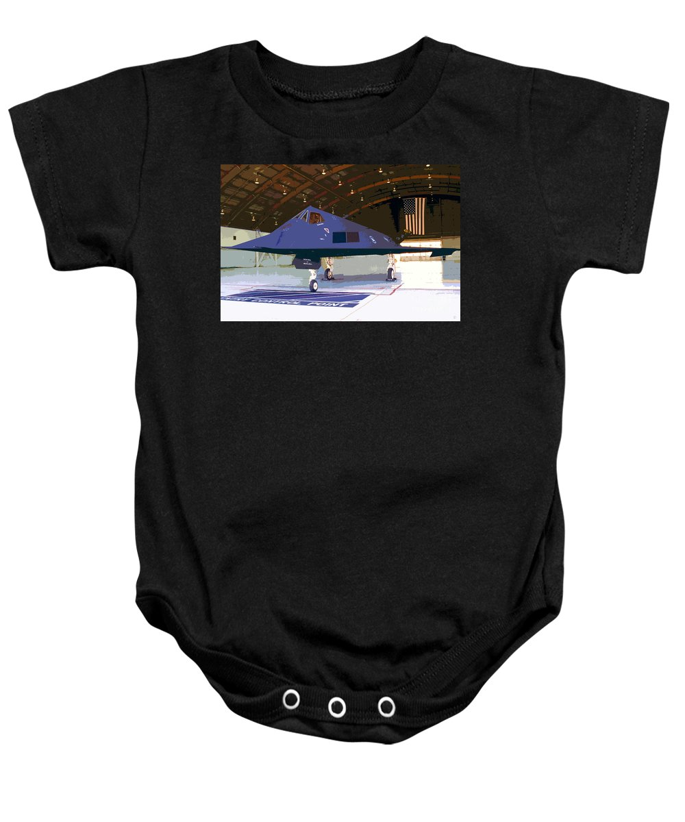 American Baby Onesie featuring the painting American Pride by David Lee Thompson