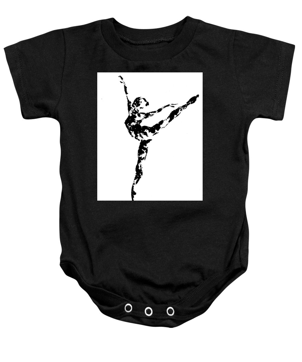 Dance Baby Onesie featuring the painting Arabesque by Emily Page