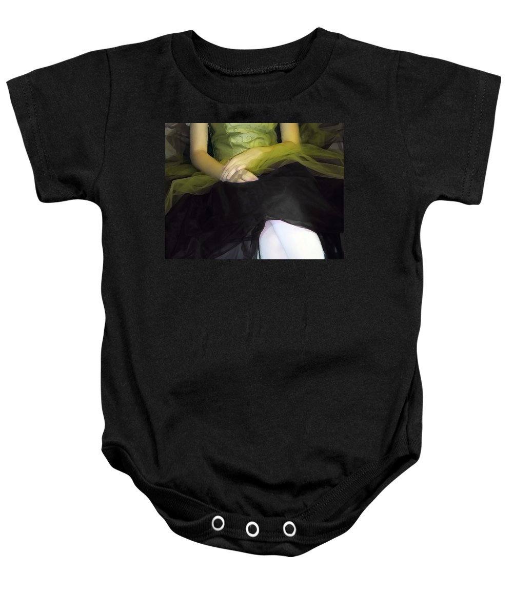 Abstract Baby Onesie featuring the photograph Ballerina Lap 2 by Angelina Vick