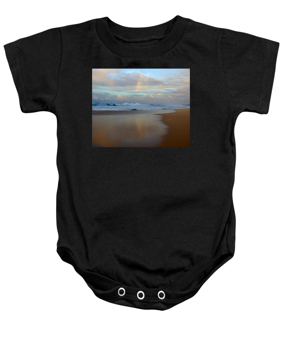 Hawaii Baby Onesie featuring the photograph Banzai Pipeline by Kevin Smith