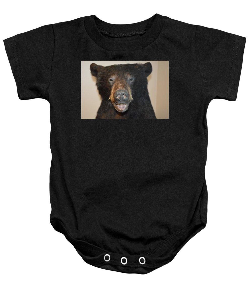 Bear Baby Onesie featuring the photograph Bear by Lynn Jung