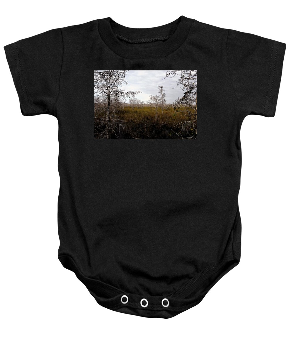 Big Cypress National Preserve Baby Onesie featuring the painting Big Cypress by David Lee Thompson