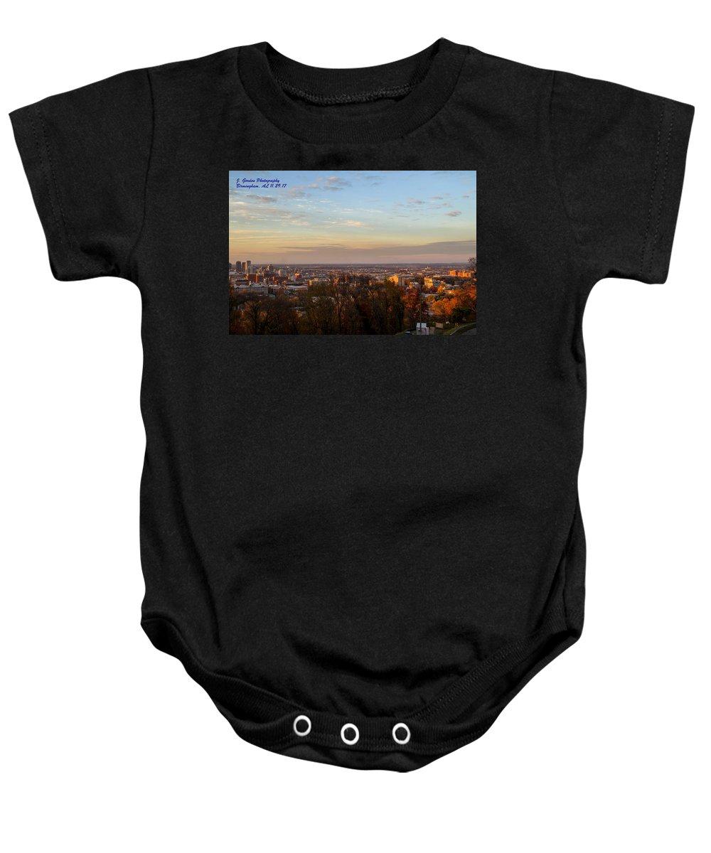Downtown Birmingham Baby Onesie featuring the photograph Birmingham Skyline by Jeffery Gordon