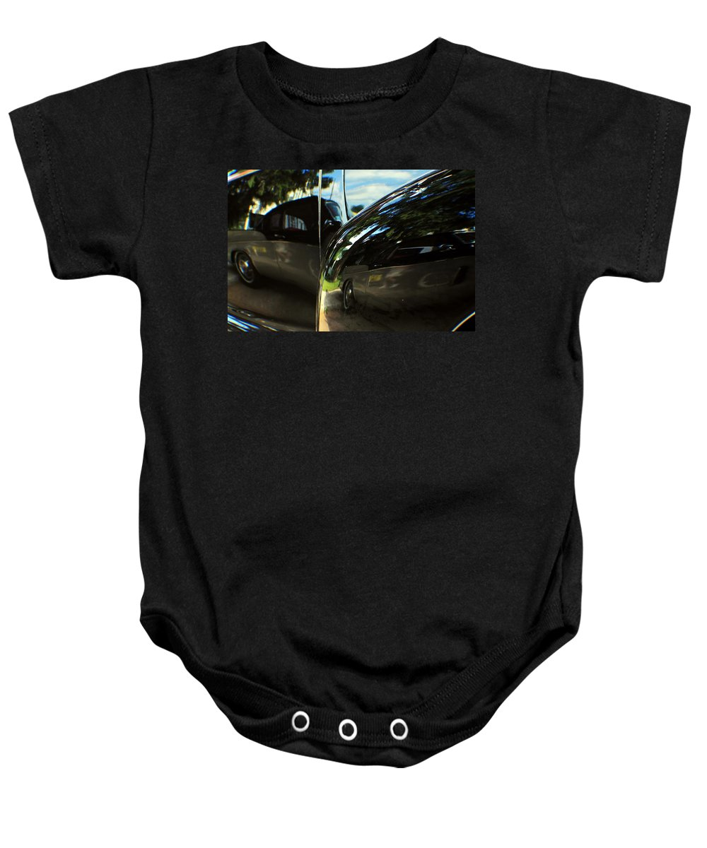 Cars Baby Onesie featuring the photograph Car Reflection 8 by Karl Rose