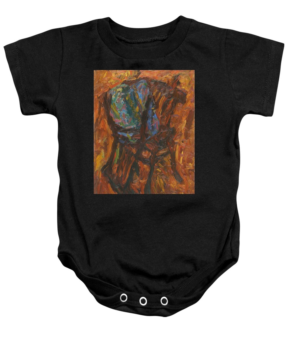 Still Life Baby Onesie featuring the painting Chair by Robert Nizamov