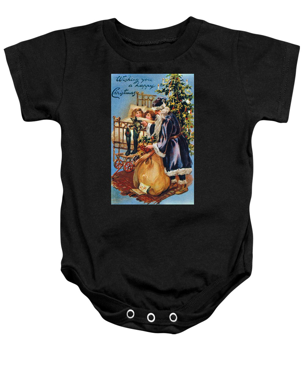 19th Century Baby Onesie featuring the photograph Christmas Card by Granger